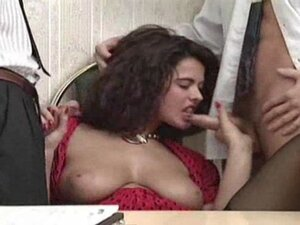 Angelica office gangbang