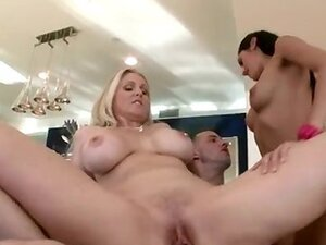 Horny big boobed MILF riding on this