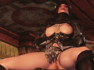 3D Queen of darkness summoned for herself a Horny