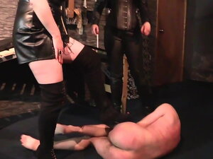 Obey to Our HighHeels - Strict British Mistresses