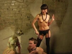 Mistresses torture their slave