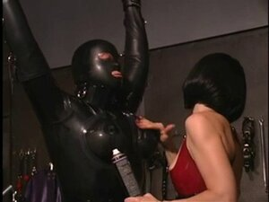 Horny mistress getting her slave ready for some