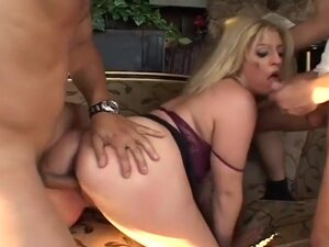 Voluptuous Blond Ass Fucked By Two Guys,