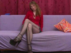 Horny girl Elke Vogel in mini skirt wanking with