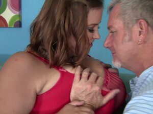 BBW boned by an old man with a super fat cock -
