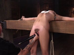 Brunette in breaking point bondage tormented