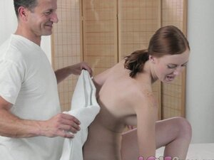 Love Creampie Innocent freckled redhead squirting