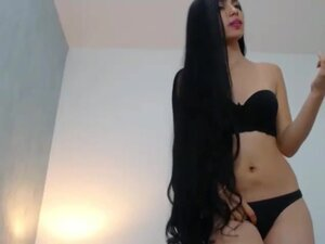 Sexy Long Haired Latina Striptease, Long Hair,