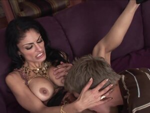 Milf with brunette hair is drilled hard and does a