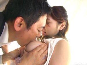Lactating busty Japanese babe Ushio Ayana milks