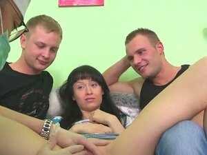Boyfriend assists with hymen examination and