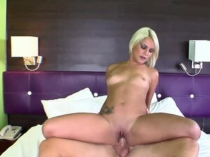 Petite coed Mickenzie Moore in a sleazy motel room