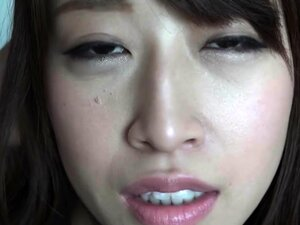 Alluring Japanese girl with big hooters takes on