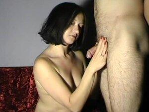 cum on Maya bare tits, Nice standing handjob with