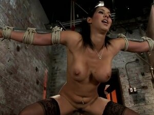 Isis Love, bound, gagged, flogged, fucked to