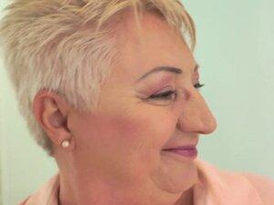 Fat grandma gives head