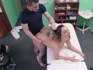 Busty patient pulls out doctors dick in fake