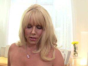 Big-assed blonde mom Karen Fisher enjoys playing