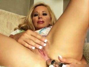Hot blonde milf gets horny dildo fucking part5