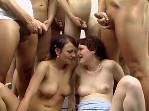 Horny Group Sex, Blonde adult scene