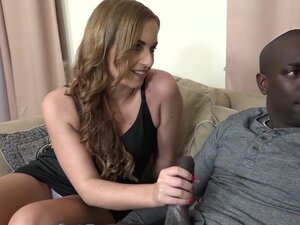 His Girlfriend Beautiful Blue Eyes Fucked by