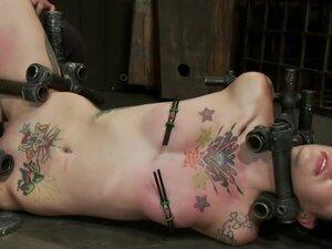 Pain slut takes some brutal punishment &