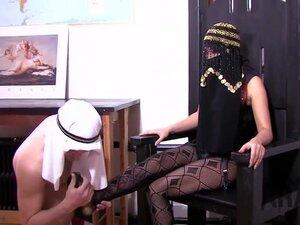 Mistress educates Arab slave full domination