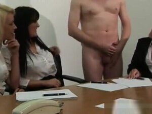 Office babes get a hard priority project at work,