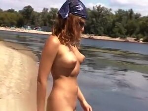 Hotties in nature's garb on the beach,