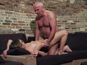 Old and Young Porn - Grandpa Fucks Teen Pussy