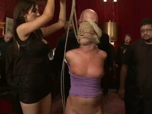 Chubby blondie is being tortured in the private