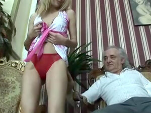 Blonde Suzi fucking with old man