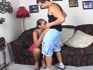 Black Slut Gets White Cock Up Her Ass, Horny black