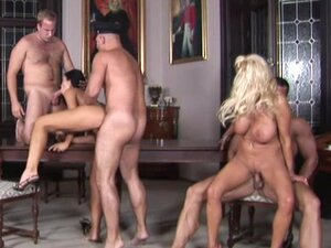 An orgy with a group of hot babes
