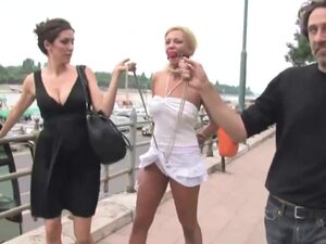 Public humiliation for a sex whore, Stunning whore