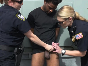 Degenerate is caught and taken to alley