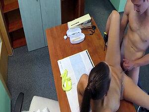 Sexy nurse fucks doctor on his desk