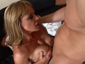 With those big mature tits and some great head,
