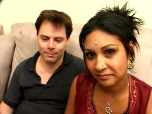 Monkia the lustful Indian gets nailed on a sofa