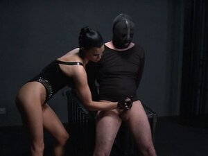Bent over slave dude flogged domination dungeon
