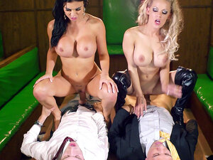 Jasmine Jae and LouLou cum hard while their wet
