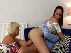 Old man fucking blonde and brunette girls