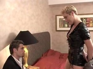 Horny blonde MILF enjoys her younger French