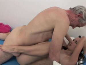 Hot old and  sex with cute babe jerking off old