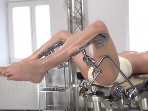 WICKED RUBBER DOCTOR AND PATIENT IN RUBBER CLINIC,