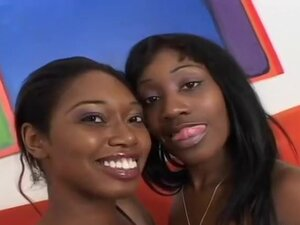 Busty Black Lesbians Exploring Pussies, Beauty