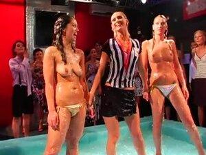 Bikini girls and goo wrestling