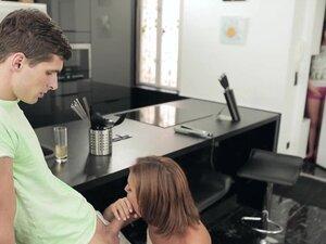Stepmom Szilvia Lauren erotic 3some action with