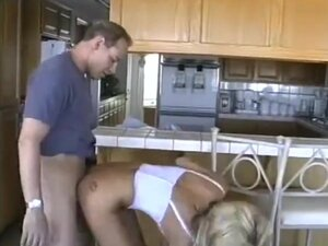 Classic Jill Kelly kitchen sex