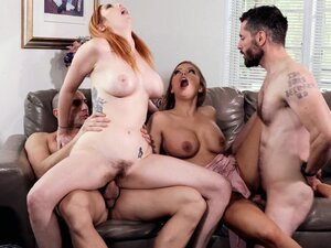 Britney Amber and Lauren Phillips in hot foursome